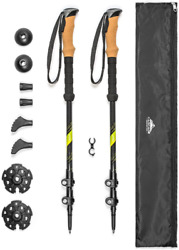 Cascade Mountain Tech Trekking Poles Carbon Fiber Strong Adjustable Hiking or $70.99