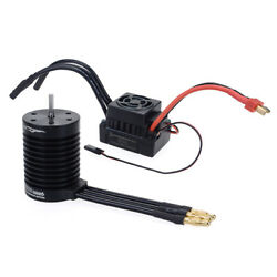 F540 3300KV Waterproof Brushless Motor + 60A ESC Set For 1/10 RC Car Parts Acces $37.99