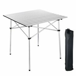 Portable Folding Aluminum Roll Up Table Lightweight Outdoor Camping Picnic Bag $33.90