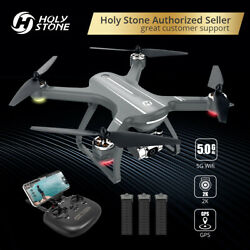 Holy Stone HS700D 2K Drone with FHD Camera GPS Brushless 5G RC Quad 3 Batteries $269.99