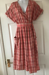 New Next Checked Wrap Over Summer Dress Size 12  bnwt  £35.00   $12.50