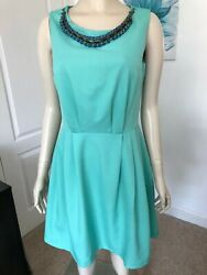 TOKYO DOLL SIZE 10 (EU 38) AQUA GREEN SKATER STYLE DRESS BRAND NEW WITHOUT TAGS  $7.49