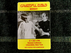Grateful Dead Backstage Pass 3251994 Bride Of Frankenstein Nassau NY