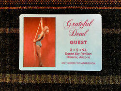 Grateful Dead Backstage Pass 351994 Phoenix AZ - Marilyn Monroe