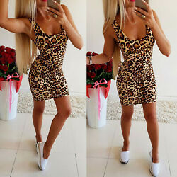 Womens Round Neck Bodycon Tank Mini Dress Slim Fit Holiday Party Clubwear Dress $10.16