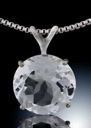 White topaz necklace great faceting & clarity this crystal sparkles in any light $125.00