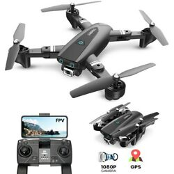 DEERC Foldable GPS S167 Drone with 1080P HD Camera Altitude Follow Me Quadcopter $99.99