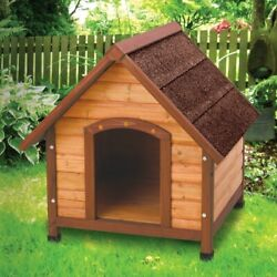 Small Outdoor Wood Dog House Made of Solid Fir Wood For Small Breed $115.77