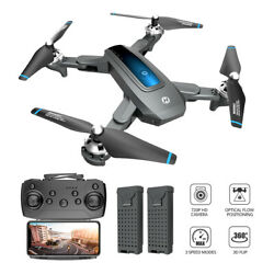 Holy Stone HS240 Foldable RC Drone 720P HD Camera Selfie 3D Flips Quad 2 Battery $59.99