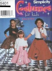 Pattern Simplicity Sewing Girl Costume Poodle Skirts sz3 6 $4.50