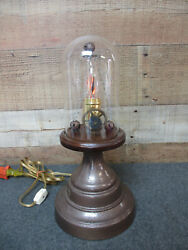 Industrial Style Lamp Glass Dome amp; Flicker Bulb Accent Lamp $37.50