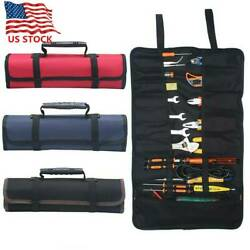 Multifunction Electrician Tool Pocket Bags Roll Up Storage Organizer Bags Pouch $9.49