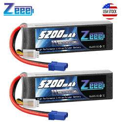 2PCS 5200mAh 11.1V 60C 3S EC5 LiPo Battery for Arrma RC Car Helicopter Airplane $67.99