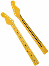 Left hand Electric Guitar Neck Maple Fingerboard Black Dots 22 Frets for ST Tool $40.99