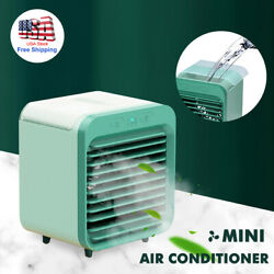 Portable USB Mini Rechargeable Water-cooled Air Conditioner Desktop Cooler Fan $28.99