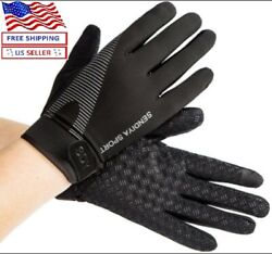 Workout Gloves Full Finger Palm Protection Hand Grip Gym Gloves Weight Lifting $13.97