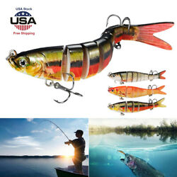 Multi Jointed Fishing Lures Sinking Wobblers Swimbait Crankbait Hard Bait Lure $8.99
