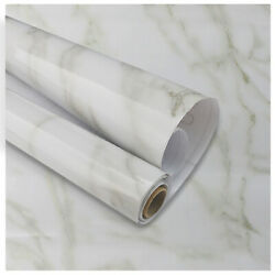 Gloss Marble Contact Wallpaper Self Adhesive PVC Wall Sticker Waterproof Kitchen $10.95