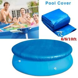 6810Ft Round Swimming Paddling Pool Cover Inflatable Easy Fast Set Rope $14.35