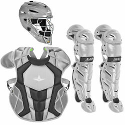 All-Star System7 Axis NOCSAE Youth Baseball Catcher's Package - Silver $364.85
