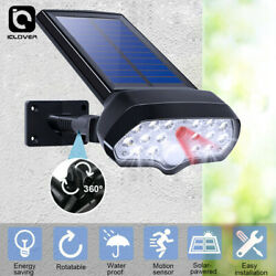 Adjustable LED Solar Power Light PIR Motion Sensor Ground Path Wall Lamp Outdoor $18.99