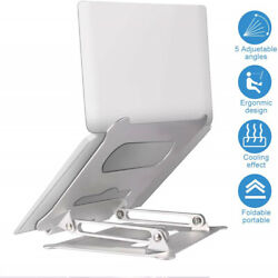 Foldable Laptop Stand Height Multi-Angle Adjustable Riser for Notebook Desk iPad $32.99