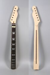 Unfinished Guitar neck 22fret 25.5inch Maple rosewood Fretboard Block Inlay $59.99