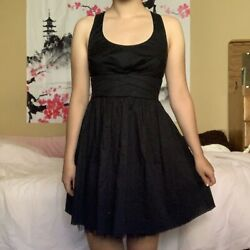 Adorable Kids Teen Bow Tie Little Black Dress XS S Good Condition $12.00