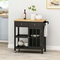 Aidah Contemporary Kitchen Cart with Wheels $212.65