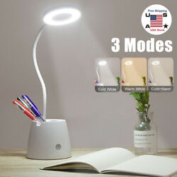 LED Desk Light Bedside Reading Lamp Dimmable Table Touch Control Flexible 3Mode $19.99