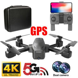 New 2.4G GPS FPV Drone Foldable Quadcopter WIFI FPV 4K Wide-Angle HD Camera  $70.99