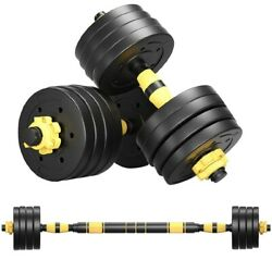 GYM Adjustable Dumbbell Set 22 44 66 88lb Weight Barbell Plates Home Workout $34.99