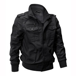 Tactical Men#x27;s Bomber Jacket Army Field Combat Military Cotton Casual Work Coat $42.99