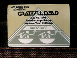 Grateful Dead Backstage Pass 5101991 Mountain View CA Rick Griffin Artwork
