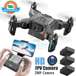 HD Camera Foldable Arm Rc Quadcopter Mini Drone Selfie Wifi FPV Camera Kids Toys $38.99