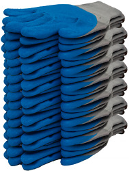 Pack of 28 Nylon Gloves with Corrugated Latex coatings. Protective Gloves Large $16.00