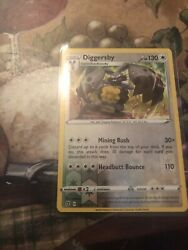 Pokemon Card. Diggersby. Stage 1 Mining Rush Headbutt Bounce 147:192 Halo $18.00