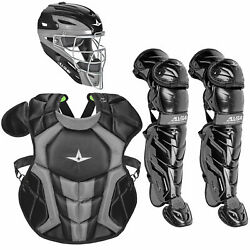 All-Star System7 Axis NOCSAE Youth Catcher's Package - Black $319.95