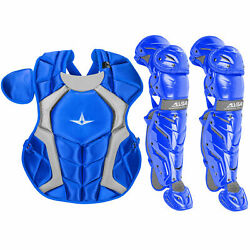 All-Star System7 Axis NOCSAE Youth Baseball Catcher's Gear Set - Royal $229.90