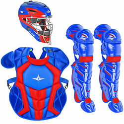 All-Star System7 Axis Travel Team NOCSAE Youth Catcher's Package - Royal/Scarlet $349.95
