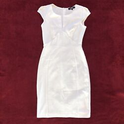 Lulus Bodycon Cap Sleeve Lined White Dress Size Small. $27.62