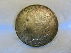 1887 $1 Morgan Silver Dollar Uncirculated With Nice Obverse Toning  $68.95