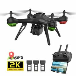 Holy Stone HS130D GPS 2K Drone with Camera 5G Follow Me RC Quadcopter 3 Battery $149.99