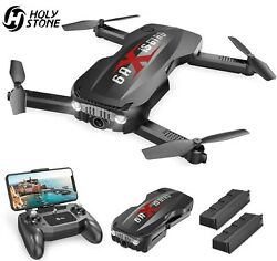 Holy Stone HS160P Foldable RC Drone 1080p HD Camera  Selfie Quadcopter 2 Battery $63.99