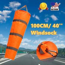 100CM 40#x27;#x27; Windsock Airport Outdoor for Agriculture Wind Measurement Sock Bag