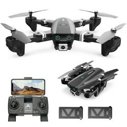 167 RC Drone with HD Camera 1080P Foldable GPS RC Quadcopter Follow Me 2 Battery $106.94