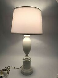 Vintage Farmhouse White Table Lamp Rustic Distressed $89.99