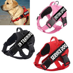 Outdoor Service Dog Harness with 2 PCS Tags No Pull Emotional Support Pet Vest $14.68