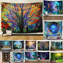 Seasonal Forest Landscape Cloth Painting Bedroom Decor Art Tapestry Wall Hanging $18.99