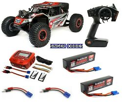 LOSI 1 6 Super Rock Rey 4WD RC Brushless Rock Racer RTR AVC LIPO LOS05016T2L HH $999.99